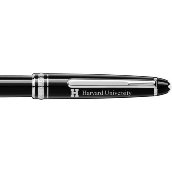 Harvard University Montblanc Meisterstück Classique Rollerball Pen in Platinum - Image 2