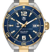 USAFA Men's TAG Heuer Two-Tone Formula 1 with Blue Dial & Bezel
