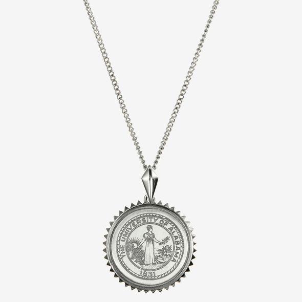 Alabama Sterling Silver Sunburst Necklace by Kyle Cavan - Image 2