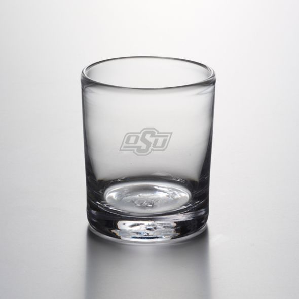 Oklahoma State University Double Old Fashioned Glass by Simon Pearce - Image 1