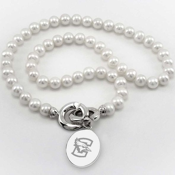 Creighton Pearl Necklace with Sterling Silver Charm