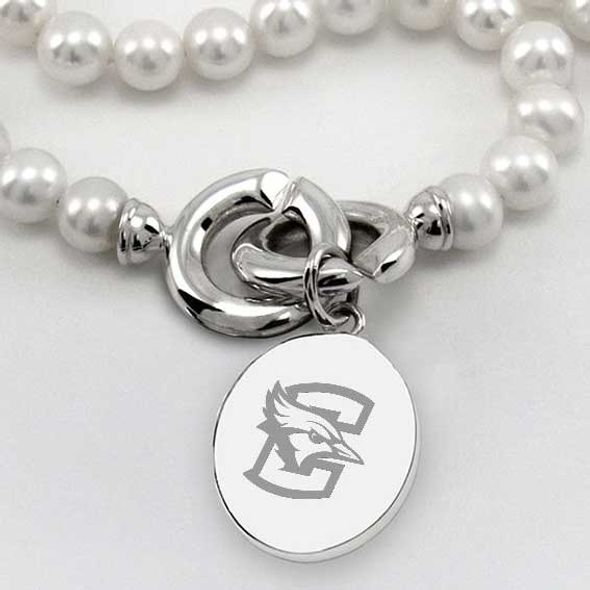 Creighton Pearl Necklace with Sterling Silver Charm - Image 2