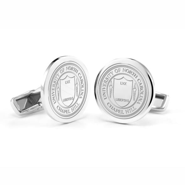 University of North Carolina Cufflinks in Sterling Silver - Image 1
