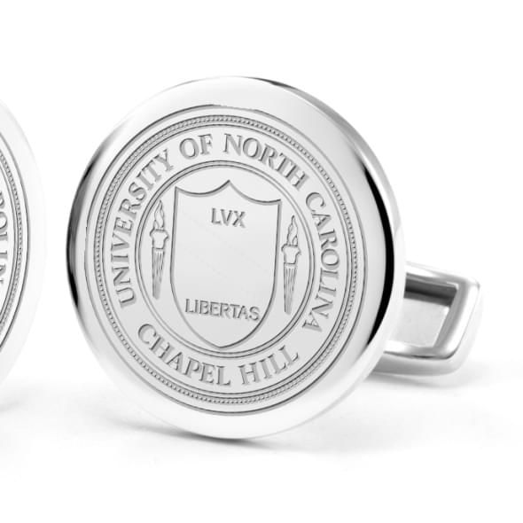 University of North Carolina Cufflinks in Sterling Silver - Image 2