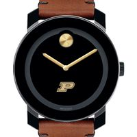 Purdue University Men's Movado BOLD with Brown Leather Strap