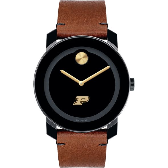 Purdue University Men's Movado BOLD with Brown Leather Strap - Image 2