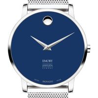 Emory Goizueta Business School Men's Movado Museum with Blue Dial & Mesh Bracelet