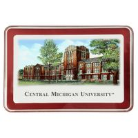 Central Michigan Eglomise Paperweight