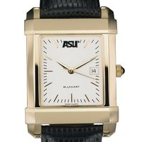 ASU Men's Gold Quad Watch with Leather Strap