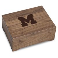University of Michigan Solid Walnut Desk Box
