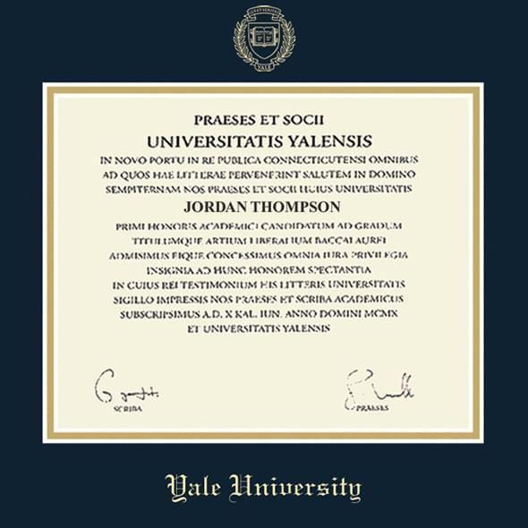Yale Diploma Frame, the Fidelitas - Image 2