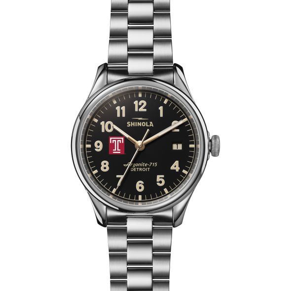 Temple Shinola Watch, The Vinton 38mm Black Dial - Image 2