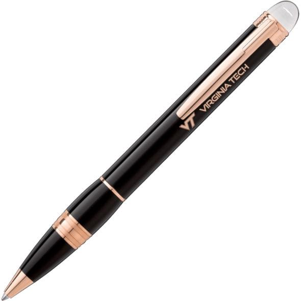 Virginia Tech Montblanc StarWalker Ballpoint Pen in Red Gold