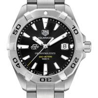 Oklahoma State University Men's TAG Heuer Steel Aquaracer with Black Dial