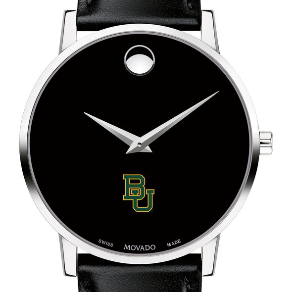 Baylor University Men's Movado Museum with Leather Strap