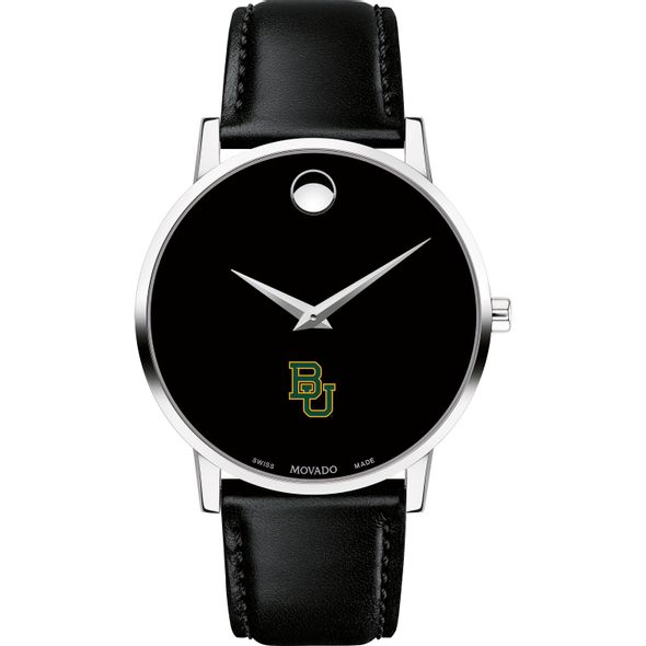 Baylor University Men's Movado Museum with Leather Strap - Image 2