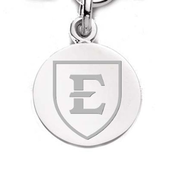 East Tennessee State University Sterling Silver Charm