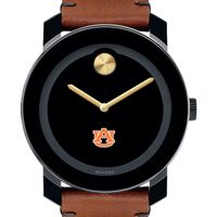 Auburn University Men's Movado BOLD with Brown Leather Strap
