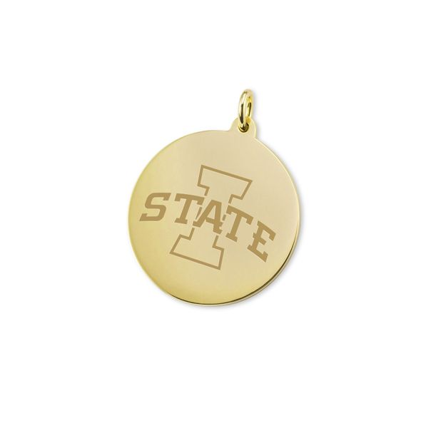 Iowa State University 14K Gold Charm - Image 1