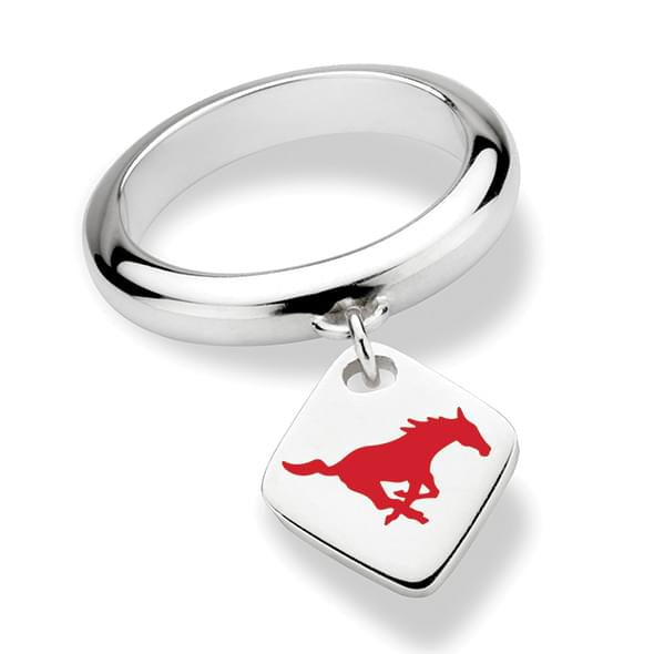 Southern Methodist University Sterling Silver Ring with Sterling Tag