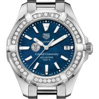 Cornell Women's TAG Heuer 35mm Steel Aquaracer with Blue Dial