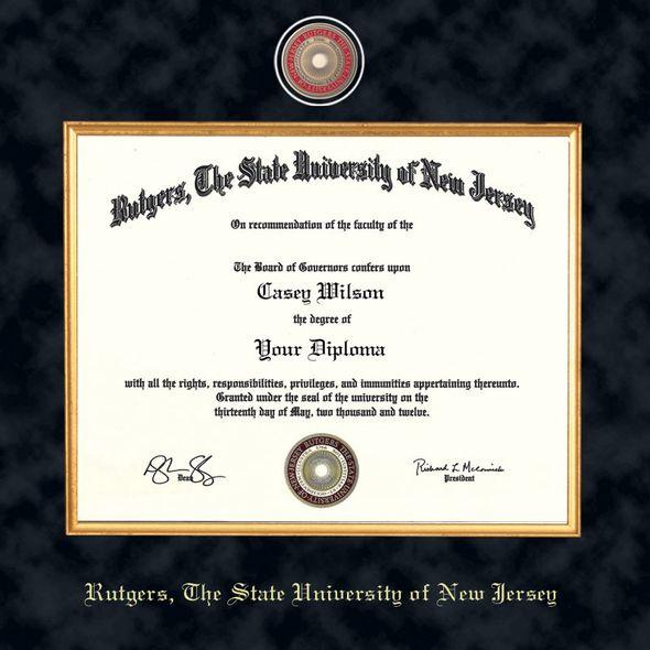 Rutgers University Bachelors Diploma Frame - Excelsior - Image 2