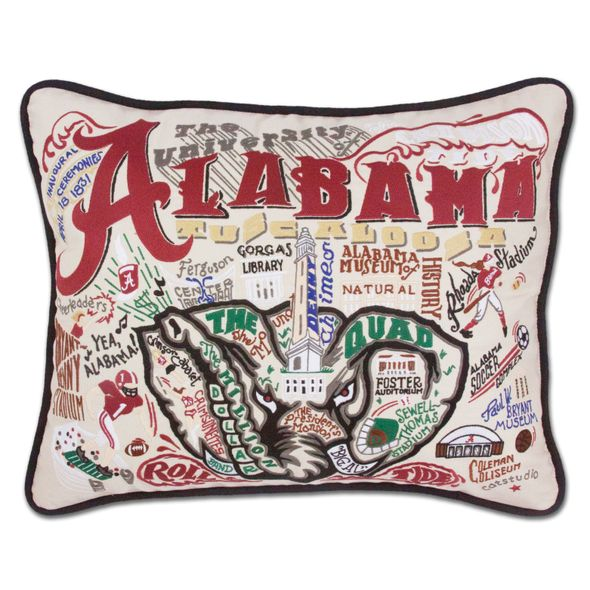 Alabama Embroidered Pillow