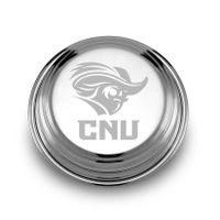 Christopher Newport University Pewter Paperweight