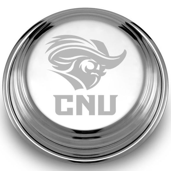 Christopher Newport University Pewter Paperweight - Image 2