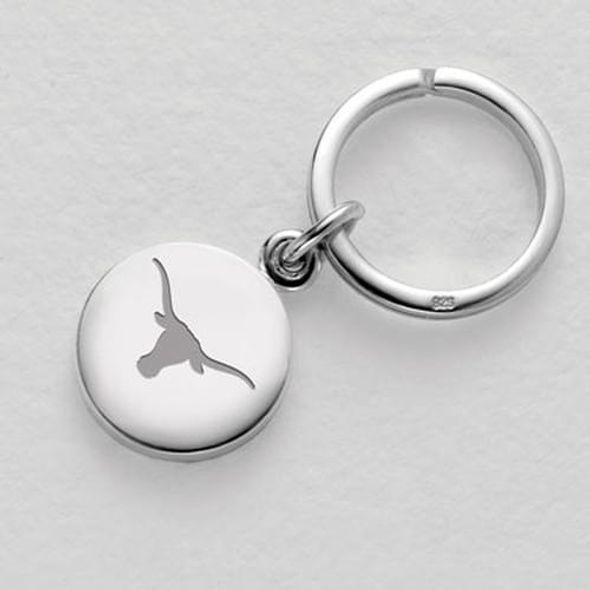 Texas Sterling Silver Insignia Key Ring