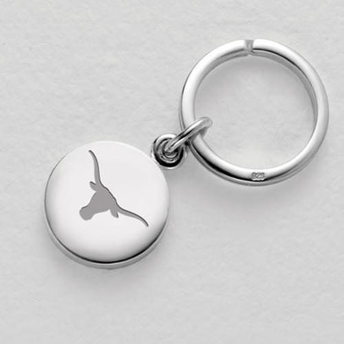 Texas Sterling Silver Insignia Key Ring