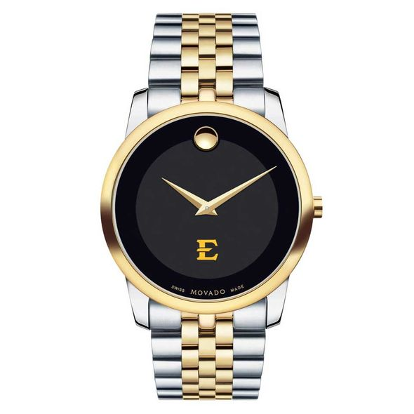 East Tennessee State University Men's Movado Two-Tone Museum Classic Bracelet - Image 2