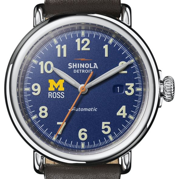 Michigan Ross Shinola Watch, The Runwell Automatic 45mm Royal Blue Dial - Image 1