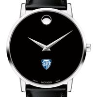 Johns Hopkins University Men's Movado Museum with Leather Strap