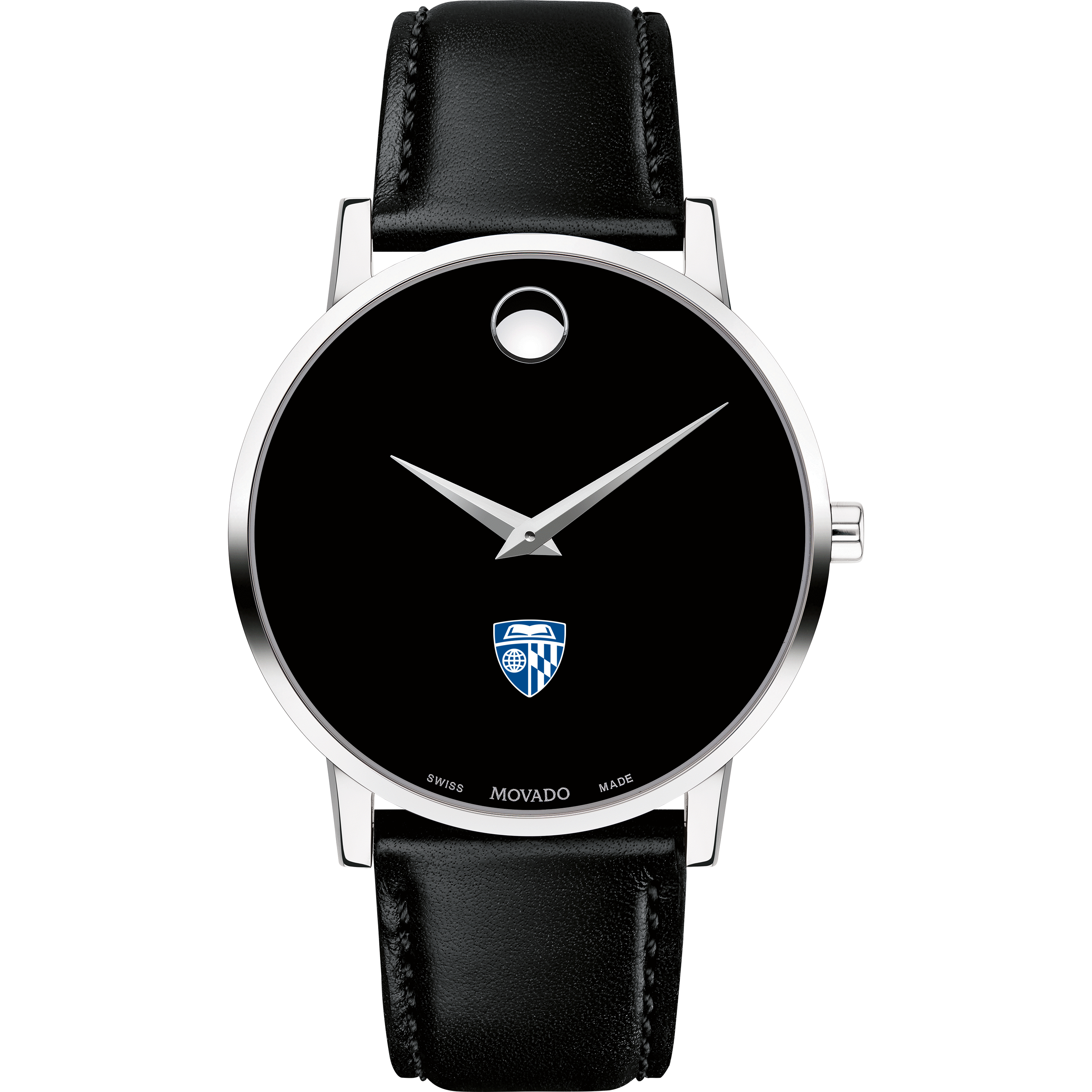 Johns Hopkins Men's Movado Museum with Leather Strap - Image 2