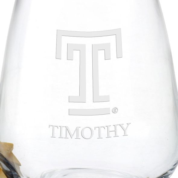 Temple Stemless Wine Glasses - Set of 4 - Image 3