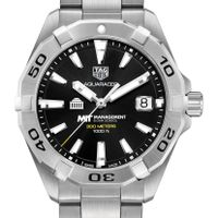 MIT Sloan Men's TAG Heuer Steel Aquaracer with Black Dial