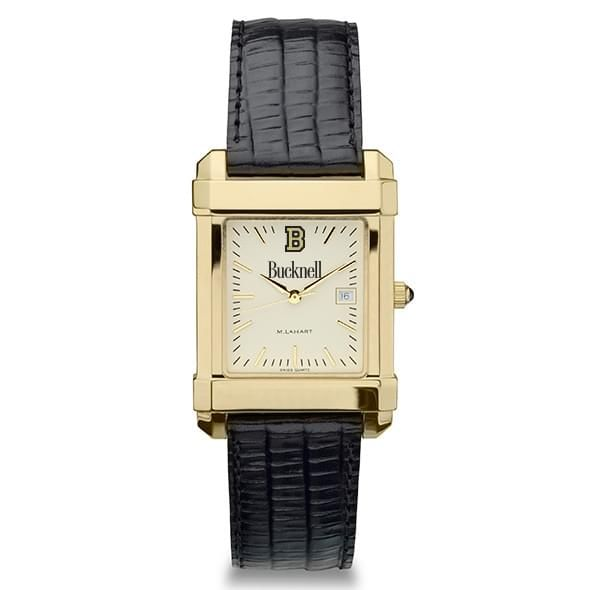 Bucknell Men's Gold Quad with Leather Strap - Image 2