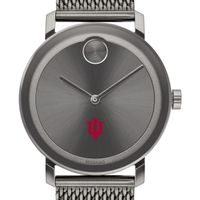 Indiana University Men's Movado BOLD Gunmetal Grey with Mesh Bracelet