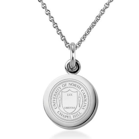 University of North Carolina Necklace with Charm in Sterling Silver