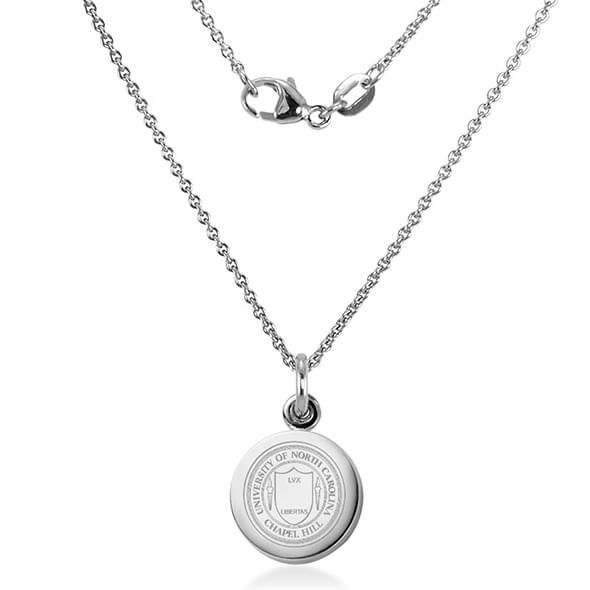 University of North Carolina Necklace with Charm in Sterling Silver - Image 2