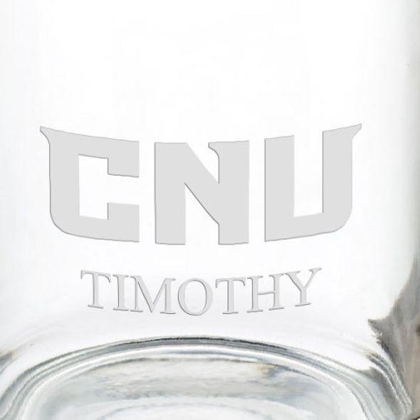 Christopher Newport University 13 oz Glass Coffee Mug - Image 3