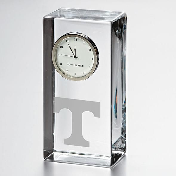 Tennessee Tall Glass Desk Clock by Simon Pearce