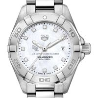 Coast Guard Academy Women's TAG Heuer Steel Aquaracer with MOP Diamond Dial
