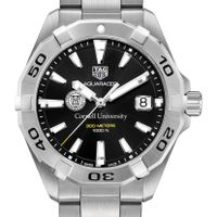 Cornell University Men's TAG Heuer Steel Aquaracer with Black Dial