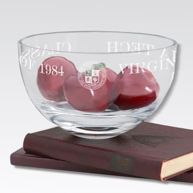 "Virginia Tech 10"" Glass Celebration Bowl"