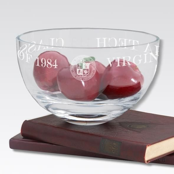 "Virginia Tech 10"" Glass Celebration Bowl - Image 2"