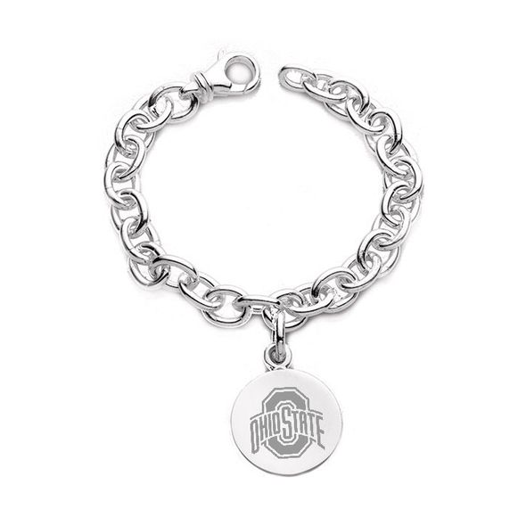 Ohio State Sterling Silver Charm Bracelet - Image 1