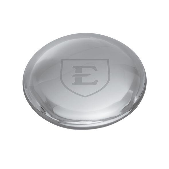 East Tennessee State University Glass Dome Paperweight by Simon Pearce - Image 1