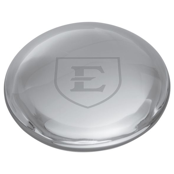 East Tennessee State University Glass Dome Paperweight by Simon Pearce - Image 2